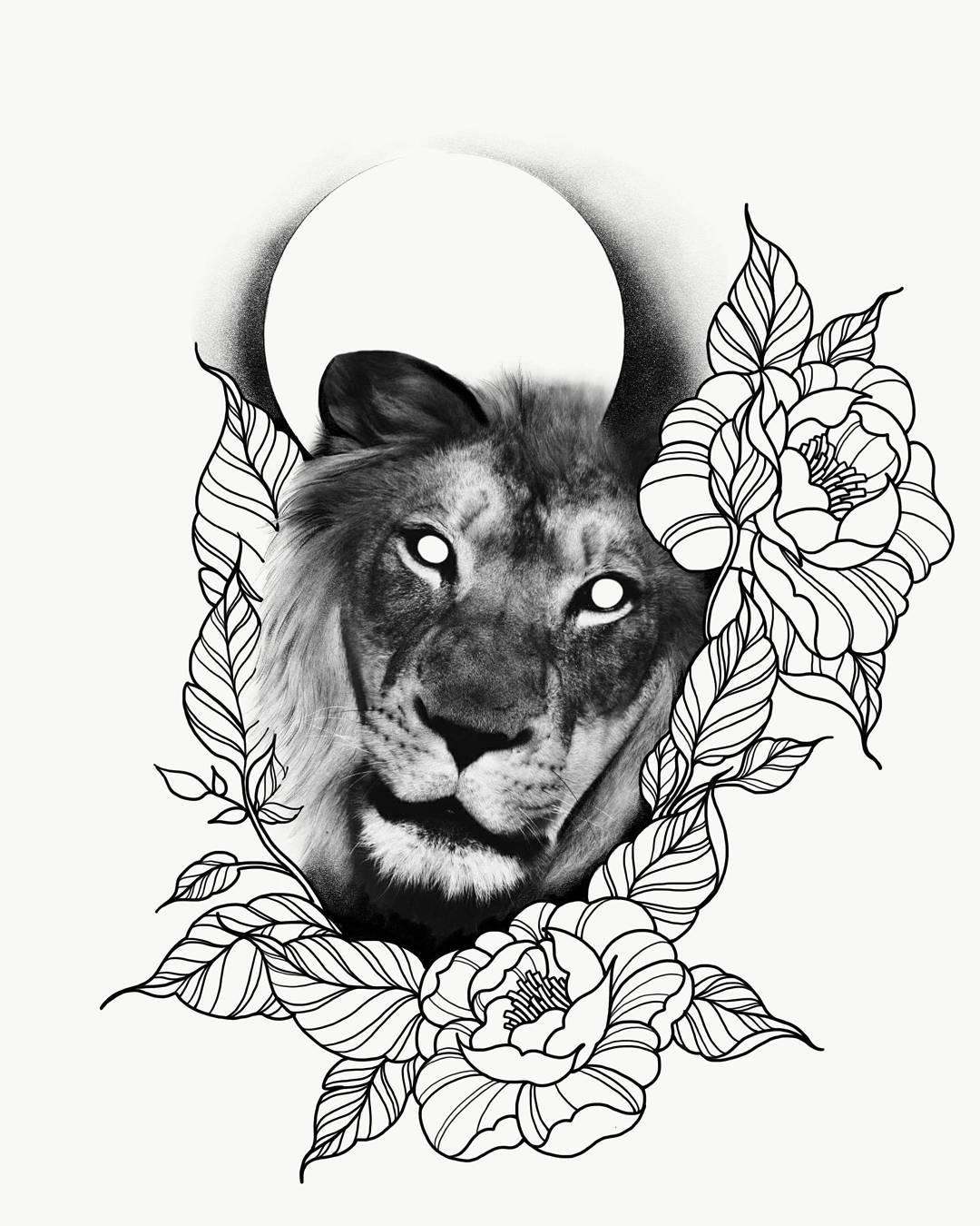 成都中国会馆做橱柜设计师的东先生玫瑰狮子纹身手稿